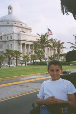 Joseph Carlo In Front  of the Capitol  in P.R.